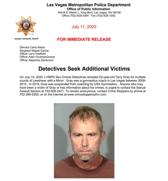 拉斯维加斯警察局声明截图