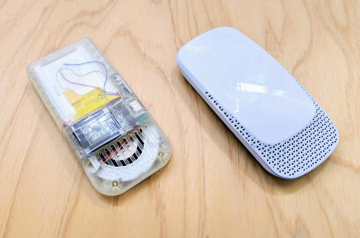 ▲ 左:Reon Pocket 的原型机;右:商品化型号