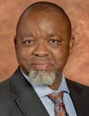 △南非矿产资源部长曼塔谢(Gwede Mantashe)(图片来源:南非总统府网站)