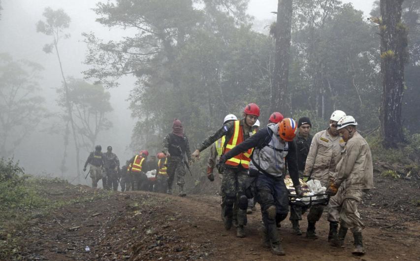 图为2017年洪都拉斯直升机坠毁