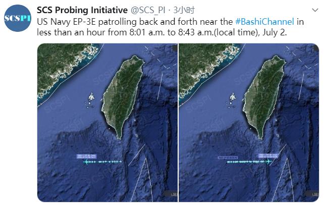 """""""南海战略态势感知计划""""发布的美军侦察机飞走路线"""