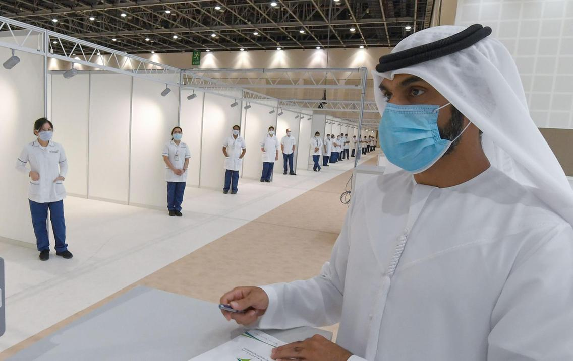 △被改建成一时医院的迪拜世贸中央 图片来源:当地媒体