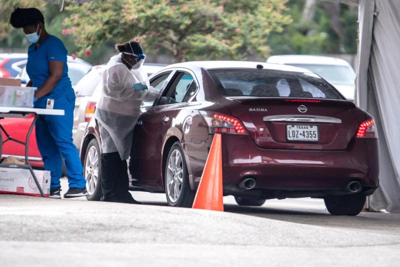 得克萨斯州一家新冠病毒检测中心。(图源:Getty)