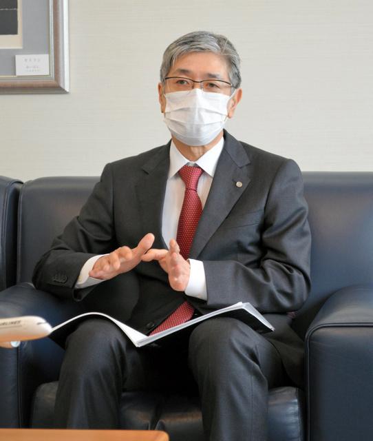 日航社长赤坂祐二接受采访(朝日新闻)