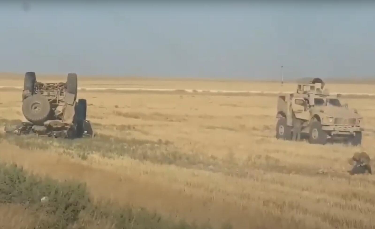 美军著名特种部队在叙利亚翻车 多名队员受伤(图)