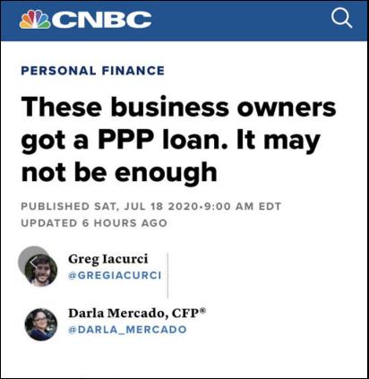 △CNBC稱,僅有16%的美國小企業在計劃結束後還能繼續發放工資,84%的企業表示,它們的資金將在8月的第一周耗盡