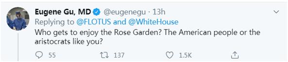 【蜗牛棋牌】疫情严峻梅拉尼娅发推宣布要修白宫玫瑰园 网友讽刺