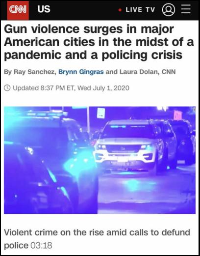 △CNN指出,弗洛伊德被害一个月内,纽约已有272名警察提交退休报告,去年同期仅有183例
