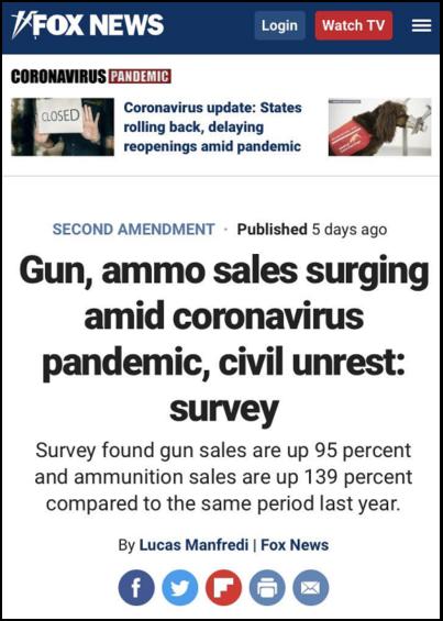△美国媒体发现,受疫情和全国多地抗议影响,今年美国枪击事件也格外严重