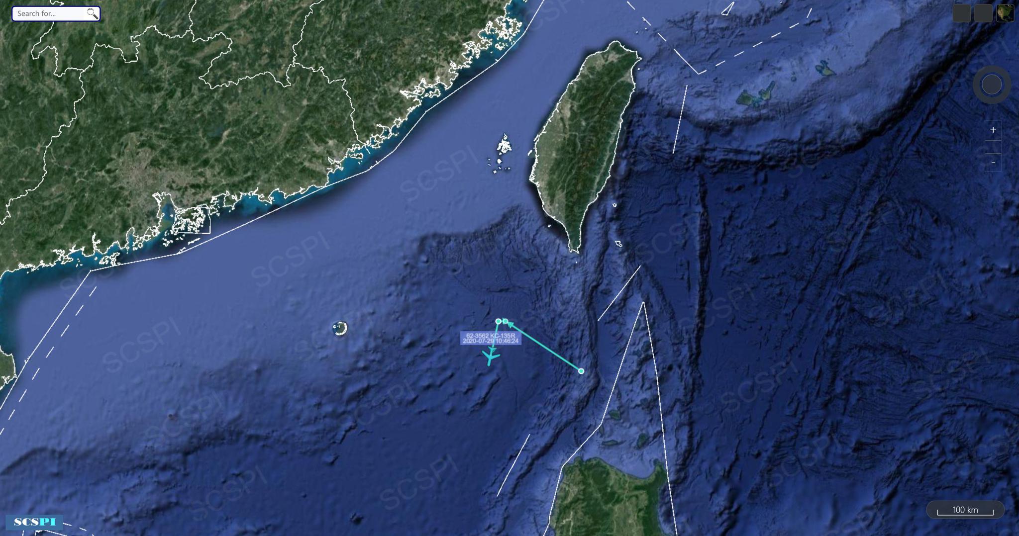 美军又派P-8A进入南海上空 距广东海岸最近96.5公里