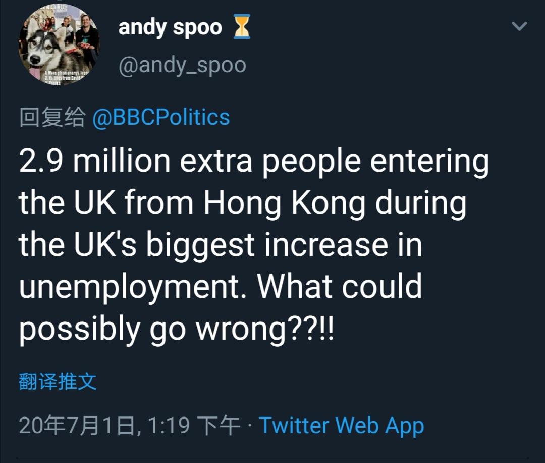 △英国的失业率处于最高增幅的时候,还要从香港额外再来290万人?我怎么觉得哪儿这么不对呢??!!