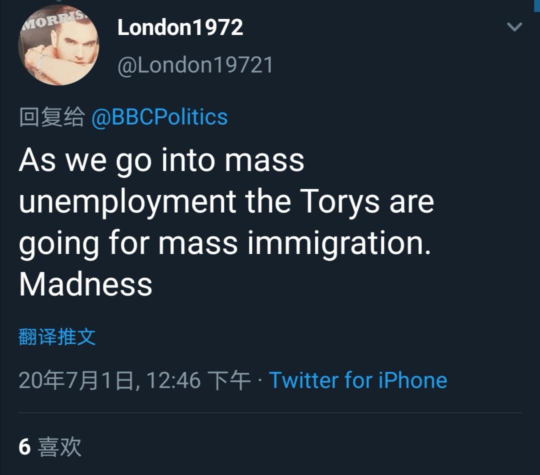 △正在进入大规模失业,保守党还要搞大规模移民,疯了