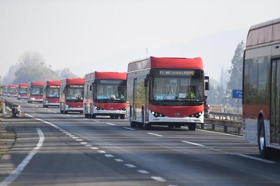 比亚迪再向智利交付150辆电动公交