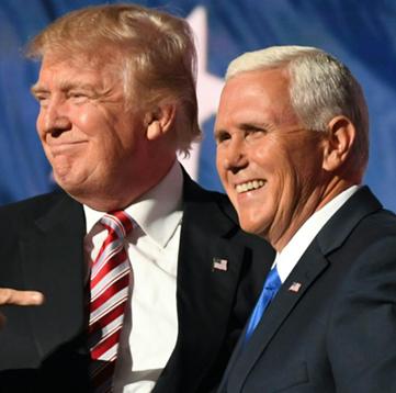 """彭斯刊登特朗普竞选广告却误称他是""""我爸"""" 遭嘲讽"""