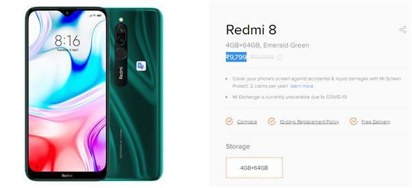 国外越卖越贵!Redmi 8系列售价在印度四连涨:涨幅超20%