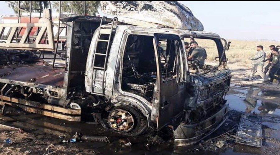 伊拉克国际联军车队遭路边炸弹袭击