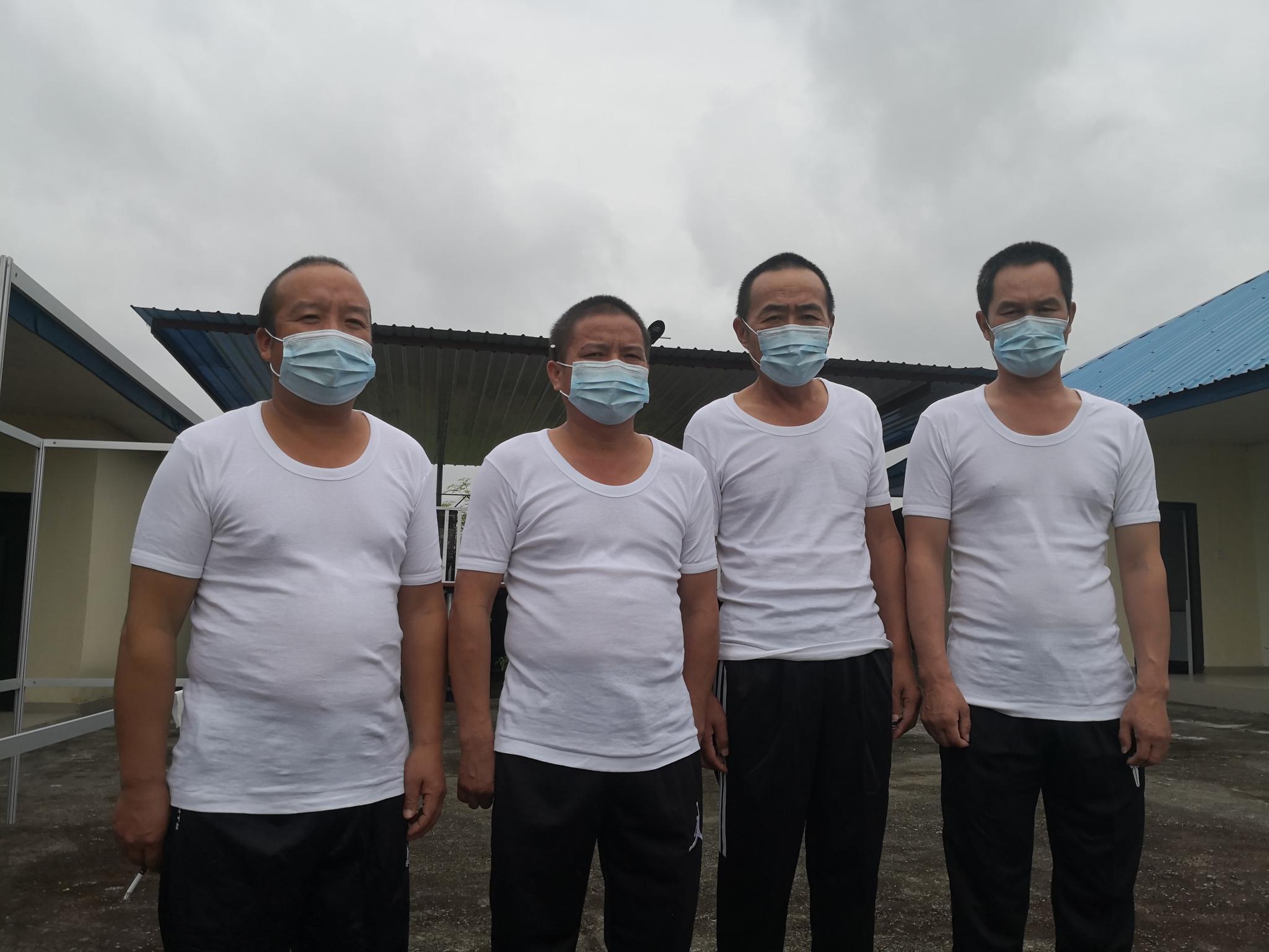 4名获救的中国公民(中江民爆器材有限公司供图)