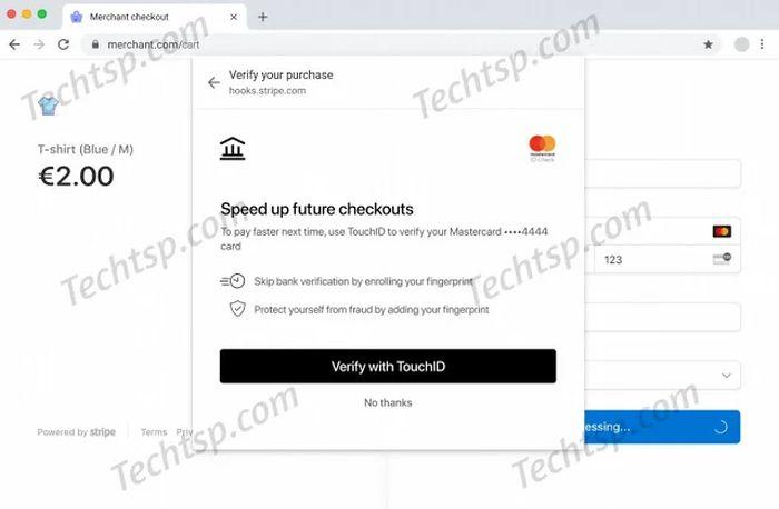 谷歌为Mac端Chrome带来Touch ID支付解决方案