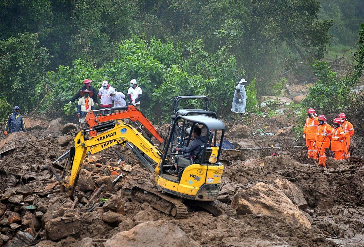 印度喀拉拉邦山体滑坡死者升至65人