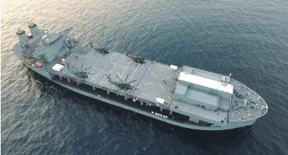 解放军民船改装成直升机母舰受外媒关注