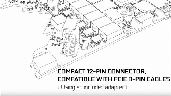 NVIDIA 12针供电接口细节近照:比8针还要迷你