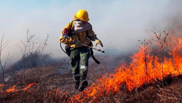 △图为阿根廷多地山火现场(来源:《布宜诺斯艾利斯消息网》)