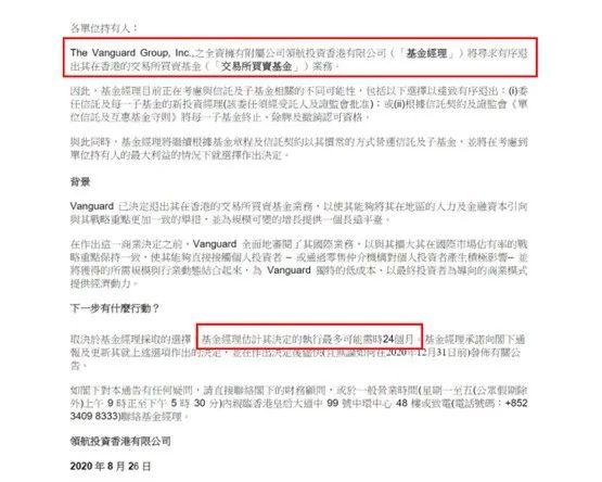 全球最大基金公司大动作 Vanguard集团退出香港转向上海