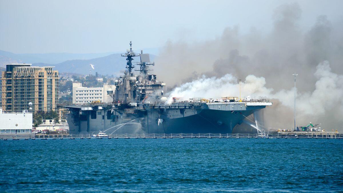 美军怀疑好人理查德号遭人纵火一名水兵正接受调查