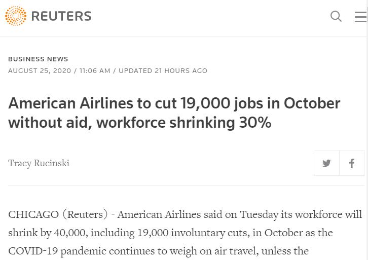 美国经济带不动:航空业裁员警报频传 大企业也扛不住了 推荐 第3张