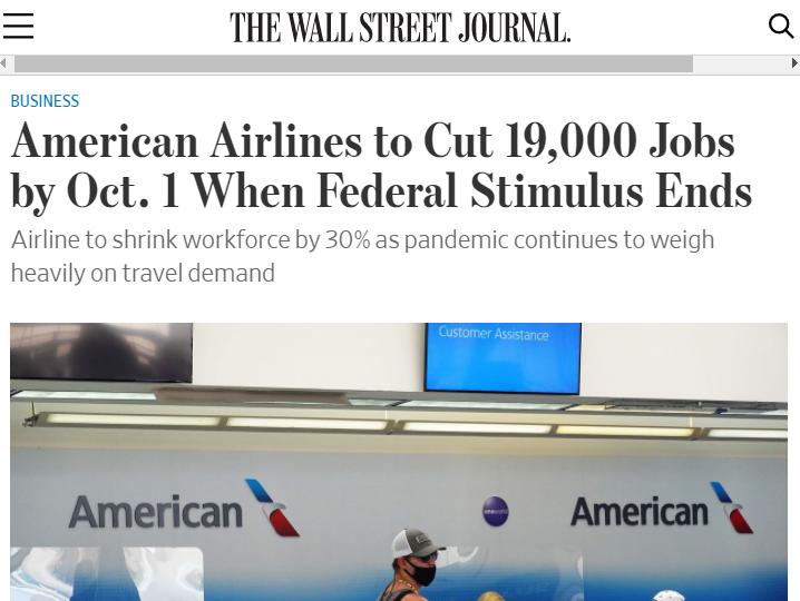 美国经济带不动:航空业裁员警报频传 大企业也扛不住了 推荐 第1张