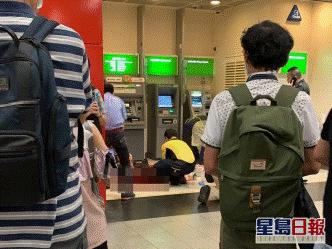 香港发生伤人血案!一名银行押运员被人用刀割喉 疑凶当场被捕