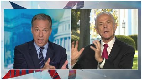 CNN主播杰克·塔珀(左)与纳瓦罗(右)