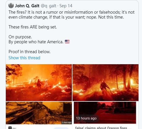 美国加州大火是中国激光武器制造?!