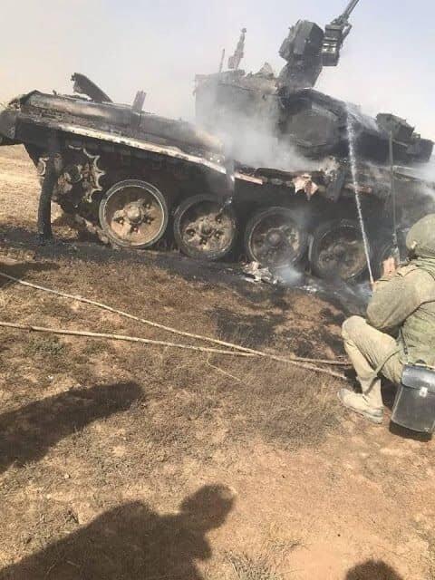 """俄军T-90坦克疑遭友军误击仅受了""""皮外伤""""(图)"""