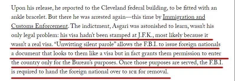 △阿斯加里的签证是假的