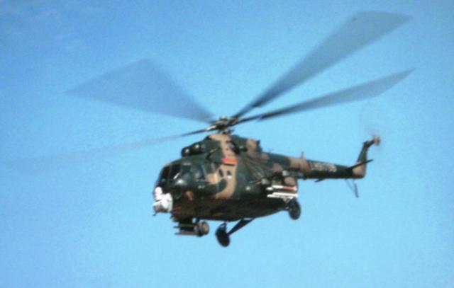 中国的一些米-17直升机装备了TY-90空对空导弹