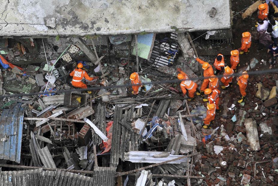 印度西部建筑倒塌事故遇难者人数上