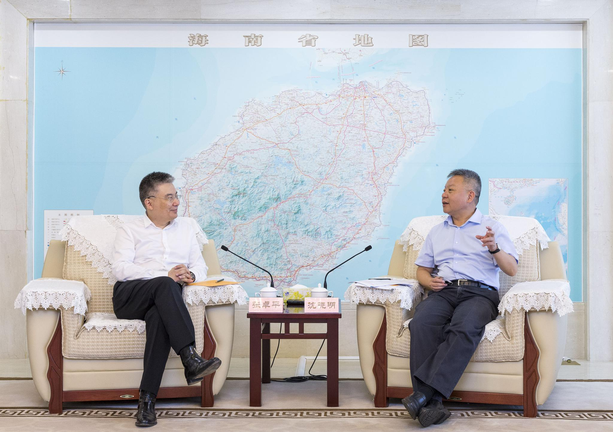 沈晓明会见英国太古(中国)有限公司主席张卓平
