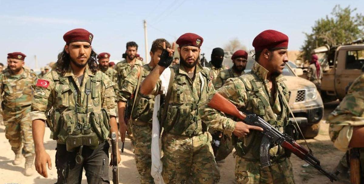 △图为土耳其支持的叙利亚反对派武装成员资料图片 来源:盖帝图像