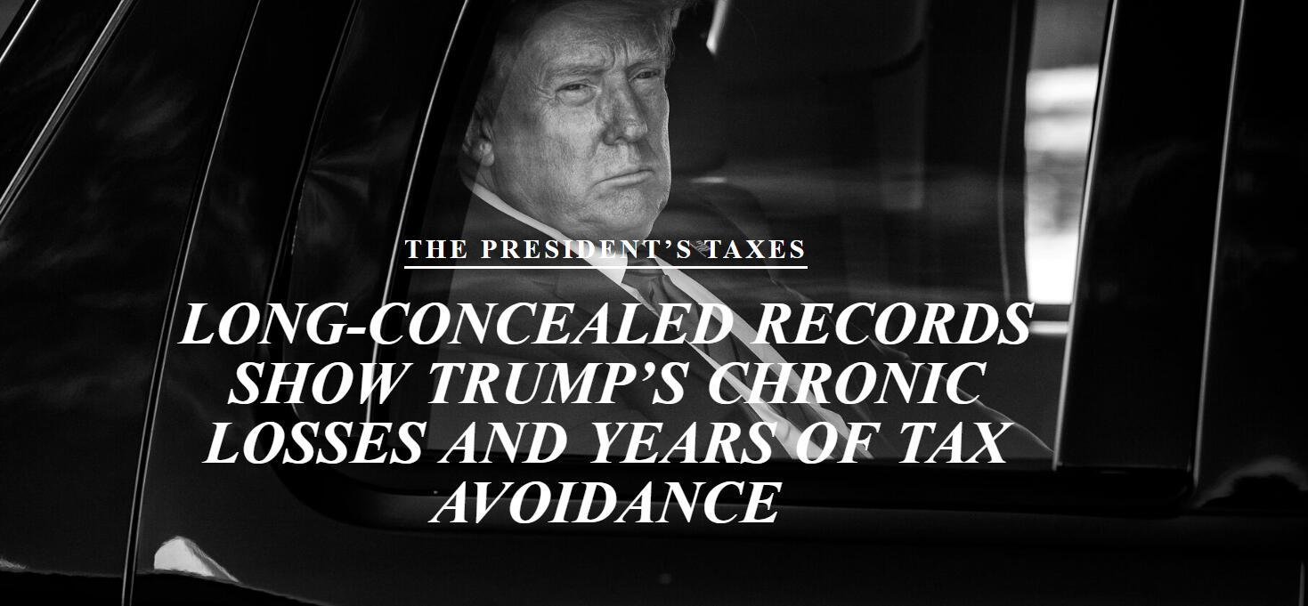 纽约时报:特朗普有十年时间没缴过一分钱联邦所得税