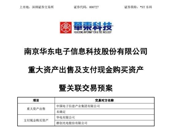 华东科技退出液晶面板产业 转型做代工