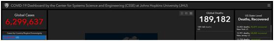 美国约翰斯·霍普金斯大学网站截图