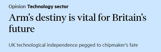 《金融时报》:ARM的命运对英国的未来至关重要