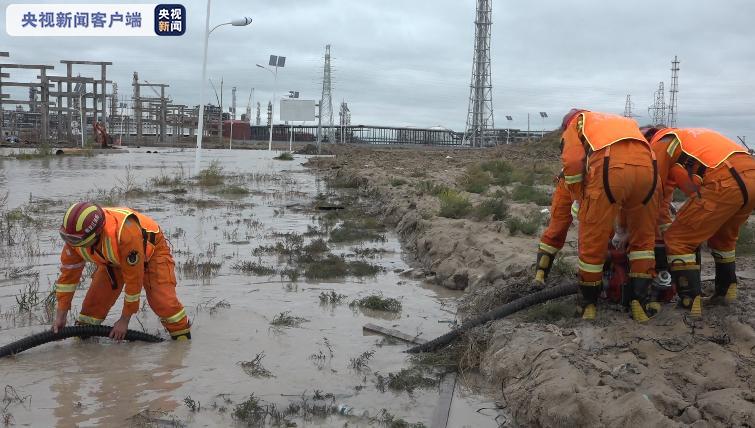 黑龙江大庆一工业园区积水严重 消防救援及时排涝图片