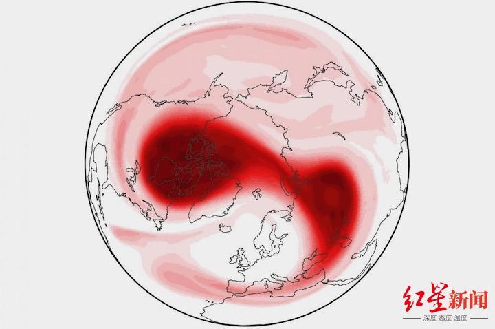 2018年2月10日,北极的平流层极地涡旋破碎成了2块。大约2周后,欧洲展现了极其主要的寒潮(图据《音信周刊》)