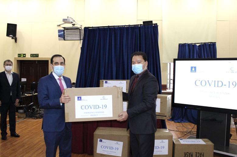 世界银行向蒙古国捐赠防疫物资