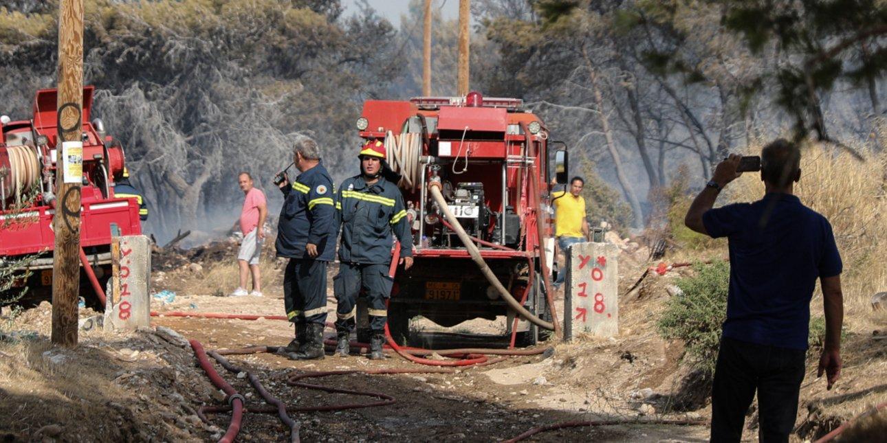 希臘薩摩斯島發生山林大火