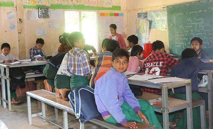 △图为缅甸曼德勒省一小学课堂(资料图)