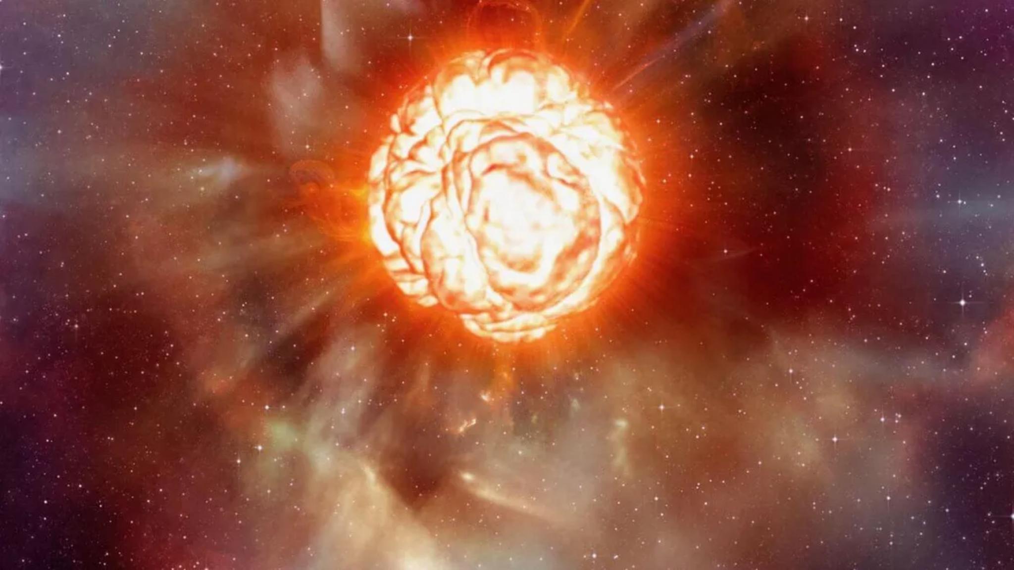 科学家终于弄清参宿四神秘变暗原因:由恒星喷射物造成