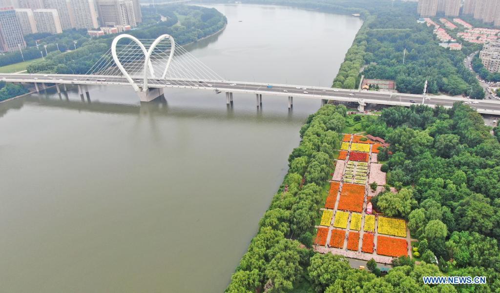 Aerial photo shows Shenshuiwan Park in Shenyang, northeast China's Liaoning Province, July 6, 2021. (Xinhua/Yang Qing)